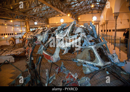 Museum for the memory of Ustica in Bologna Italy - Stock Image