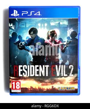 PS4 video game resident evil 2 - Stock Image