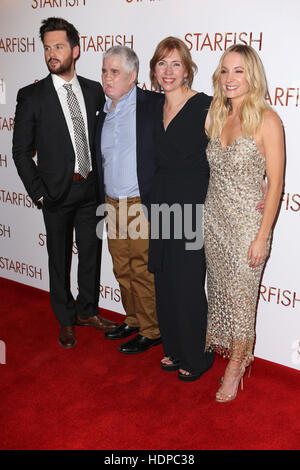 Guests attend red carpet for the UK Premiere of Starfish  Featuring: Tom Riley, Tom Ray, Nicola Ray, Joanne Froggatt - Stock Image