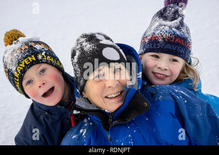 Grandmother and children - Stock Image