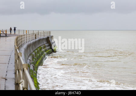 View of an overcast seascape, Margate, England, United Kingdom - Stock Image
