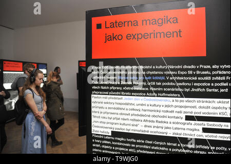 Brno, Czech Republic. 21st May, 2019. The 'Laterna magika: (De)construction and (Re)invention' exhibition was launched in Brno, Czech Republic, on May 21, 2019. Credit: Igor Zehl/CTK Photo/Alamy Live News - Stock Image