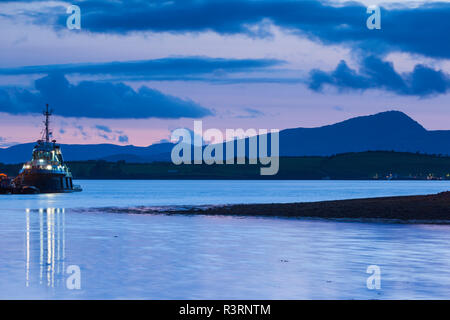 Ireland, County Cork, Bantry, harbor view, evening - Stock Image
