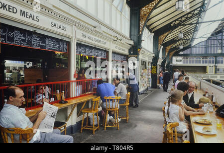 The Bull Terrier cafe, Central Market, Cardiff, Wales. Cymru. Circa 1980's - Stock Image