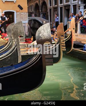 Gondolas Venice Italy - Stock Image