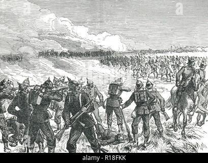 The Battle of Langensalza, 27 June 1866 - Stock Image