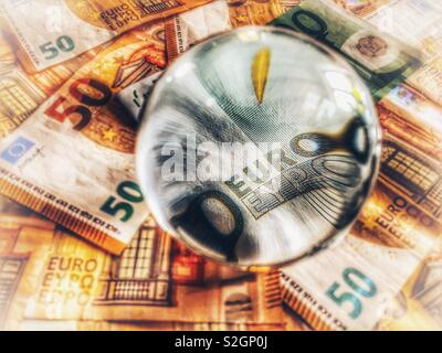 European currency, euros - Stock Image