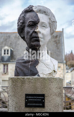 'Sculpture de Jouvence' by Emmanuel Sellier as found in the town of Langeais, Indre-et-Loire, France - Stock Image