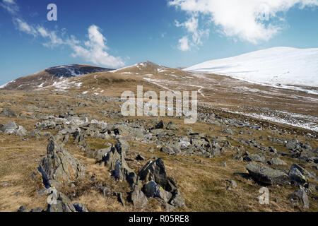 Gyrn is a mountain in the Carneddau range in the Snowdonia National Park, North Wales. - Stock Image