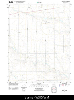 USGS TOPO Map Kansas KS Oakley SW 20120905 TM Restoration - Stock Image
