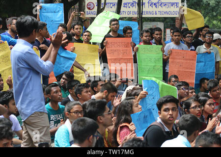 Students of Bangladesh University of Engineering and Technology (Buet) today continued their protest for the fourth day on a 16-point demand including cancellation of the new recruitment order of director of student's welfare. - Stock Image