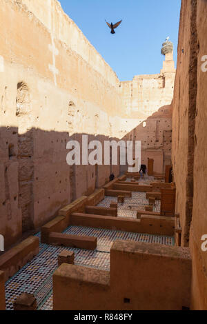 El Badi Palace marrakech Morocco - ruins of the Badi palace, the Medina, Marrakesh Morocco North Africa - Stock Image