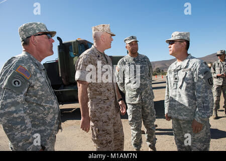 Images from Tech Sgt. Gallahan, SEAC photographer, showing Sgt. Maj. Bryan Battaglia and Command Sgt. Maj. William - Stock Image