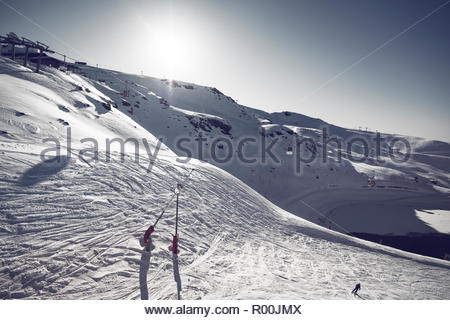 Ski field in Spain - Stock Image