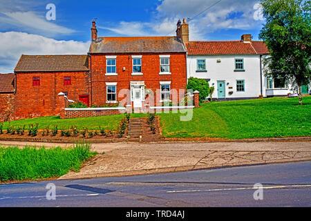 Period Houses, Sadberge, Borough of Darlington, England - Stock Image