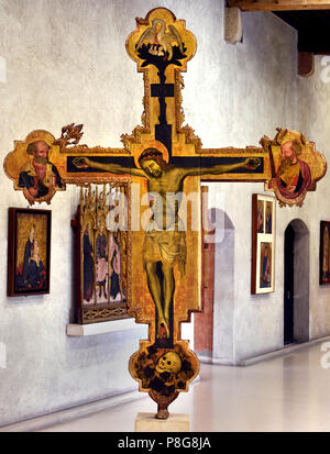 Croce Stazionale - Wayside Cross by Pittore Veronese - Veronese,  painter,15th Century , Italy, Italian. - Stock Image