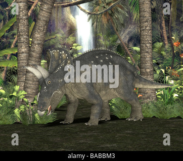 dinosaur Diceratus - Stock Image