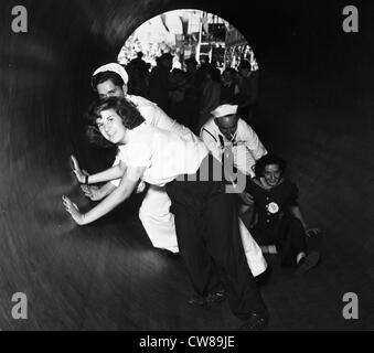 Sailors at Coney Island, New York City, September 13, 1942 - Stock Image