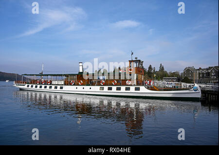 MV Tern. Windermere Lake Cruises. Windermere, Lake District National Park, Cumbria, England, United Kingdom, Europe. - Stock Image