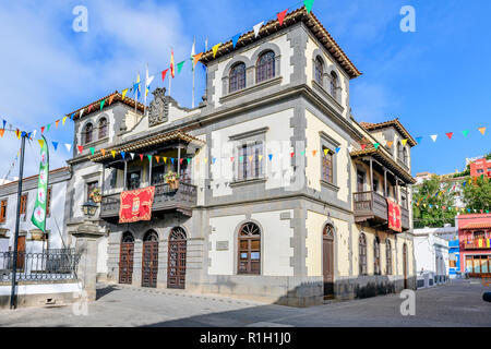 The town or city hall, Teror Gran Canaria Canary Islands - Stock Image