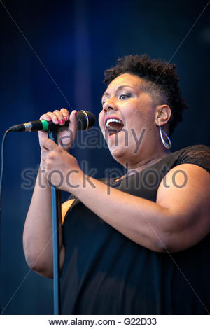 Orange Bud performing live - Stock Image