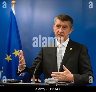 ***DECEMBER 14, 2017, FILE PHOTO*** Czech PM Andrej Babis (ANO) faces a conflict of interest over the prevailing links to his former firms in the Agrofert group, according to an audit that the European Commission (EC) sent to Czech authorities, Hospodarske noviny (HN) financial paper writes on its website today, on Friday, May 31, 2019. Brussels demands that all EU subsidies Agrofert received from 2018 be returned. Babis owned the Agrofert giant chemical, agricultural, food and media holding until 2017 when, in his then capacity as finance minister, he transferred it to trust funds to comply - Stock Image