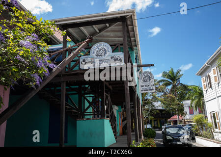 Salty Dogs Rentals in Saint John's, Capital of Antigua and Barbuda - Stock Image