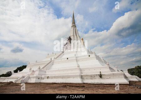 Wat Phu Khao Thong in Ayutthaya, Thailand. - Stock Image