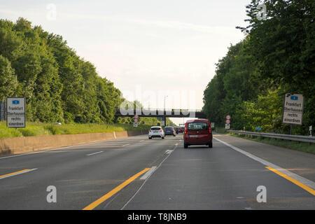 Deutschland, Nordrhein-Westfalen, Burscheid, A1, Baustelle Talbrücke Köttersbach - Stock Image