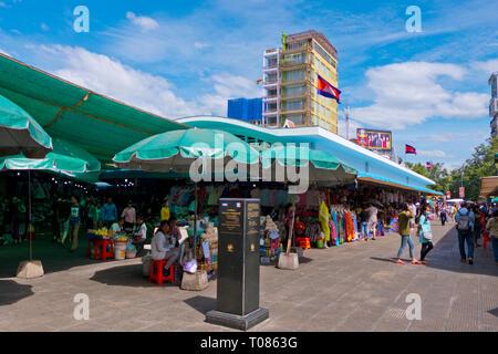 Central Market, Phnom Penh, Cambodia, Asia - Stock Image
