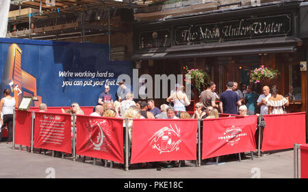 The Moon Under Water Pub Leicester Square London summer 2018 - Stock Image