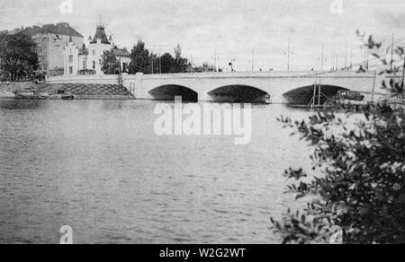 The 'Long Bridge' in Helsinki, built in 1912 - Stock Image