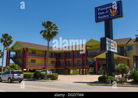 Passport Inn & Suites motel Kemah Texas USA - Stock Image