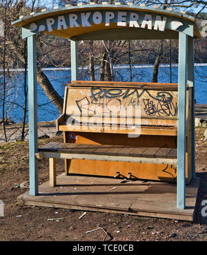 Outdoor piano Stockholm - Stock Image