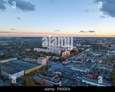 Aerial view of City Tallinn Estonia - Stock Image