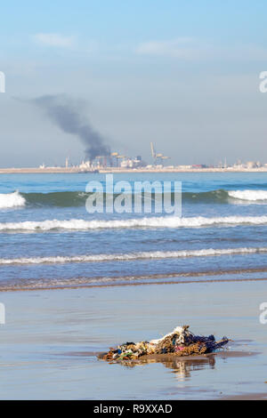 Ocean and atmospheric pollution Agadir, Morocco, Africa - Stock Image