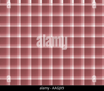 Red plaid background - Stock Image