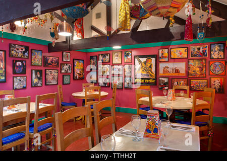 Daaku Indian Restaurant, Penryn, Cornwall, UK, owned by Jasmine Sharma and Ben Martin. - Stock Image
