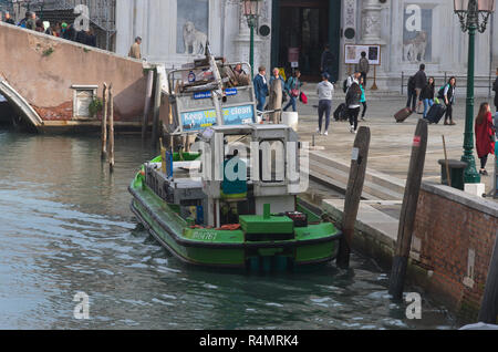 a rubbish collection in Venice Italy - Stock Image