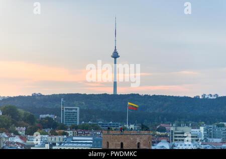 Vilnius TV Tower, Lithuania - Stock Image