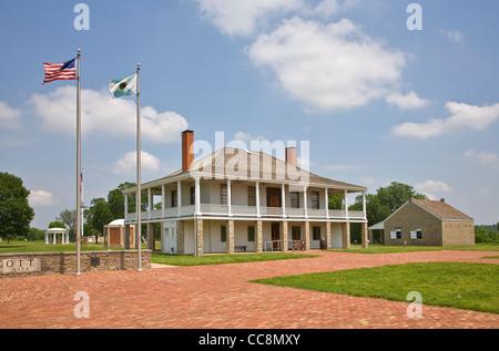 Visitor Center and former hospital at Fort Scott National Historic Site, Kansas, USA - Stock Image