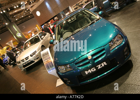 MG Rover stand at the UK Motorshow NEC Birmingham May 2004 - Stock Image