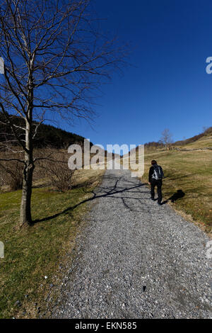 Part of the old Postal Road between Bergen and Trondheim in Åsane, Bergen, Norway. - Stock Image