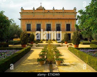 Alcazar Palace gardens in Jerez - Stock Image