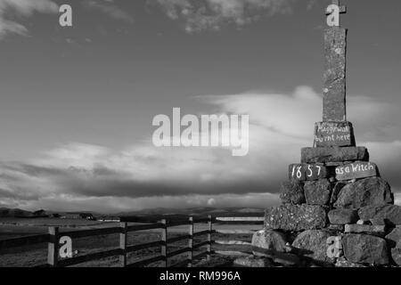 Maggie Wall memorial , Dunning, Perthshire, Scotland. - Stock Image