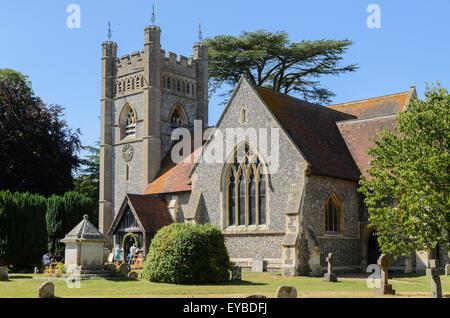St Mary the Virgin Church, Hambleden, Buckinghamshire, England, UK. - Stock Image