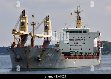 Sian C entering Holtenau Locks - Stock Image