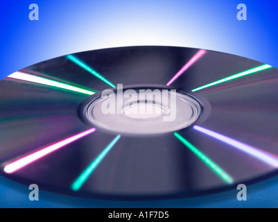 Close up of a compact disk - Stock Image