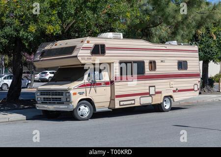 Chevrolet Chevy Van 30 Camper, beige - Stock Image