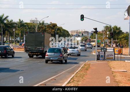 W3 North Avenue, Brasilia, Brazil - Stock Image